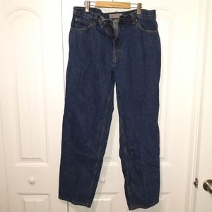 40x34 mid wash straight leg jeans